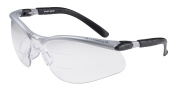 3M BX Dual Reader Protective Eyewear, 11458-00000-20 Clear Anti-Fog Lens, Silv/Blk Frame, +2.0 Top/Bottom Diopter