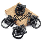 OneTigris 4pcs Tactical 360 Rotation D-ring Clips MOLLE Webbing Attachment Backpacks EDC
