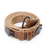U.S. M1 Garand WWII 1907 Pattern Leather Sling- Genuine Leather & Steel