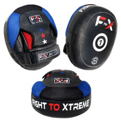 Vader Sports Pro Focus Pads Air Mitts Pads Leather Hook & Jab Pads Curved MMA UFC Punch Pads