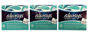 Always - Feminine Wipes-to-Go Multipack - Pack of Three, 20 Count per Pack