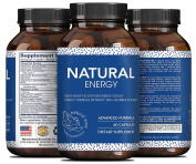 Power Band Energy - Natural Capsules - Spirulina + Acai Berry - Maca + Folic Acid - Energy & Atioxidant - Dietary Supplement - No Sugar & No Calories - B Vitamins & Amino Acids - Made By Natural Vore