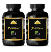 Heart health supplements - PURE RESVERATROL SUPPLEMENT 1200 mg - Resveratrol leaf supplement - 2 Bottles 200 Capsules