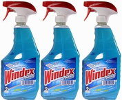 Windex Powerized Glass Cleaner with Ammonia-d, 950ml Trigger Spray Bottle by Windex