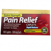 Good Sense Extra Strength Pain Relief Caplets - Raid Relief 500mg - 100 Caplets