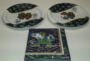 Notre Dame Fighting Irish Party Bundle 23cm Plates (16) Lunch Napkins
