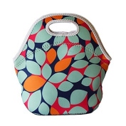 Lunch Tote, OFEILY Lunch boxes Lunch bags with Fine Neoprene Material Waterproof Picnic Lunch Bag Mom Bag (Leaf) by OFEILY