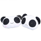 Topbeu 2Pcs Cute Cartoon Panda Plush Waist Cushion Car Seat Neck Rest Headrest Pillow