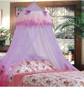 Triple Lace Ruffle Princess Purple Lilac Canopy