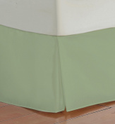 Super Soft Silky Tailored Bed Skirt is made of 800 Threads 100% Egyptian Cotton Long Staple KING Size SAGE Colour