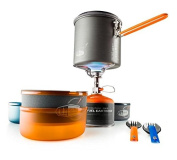 GSI Outdoors Pinnacle Dualist Cook Set with Maker Complete Set 50150, Multi, M