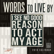 Words to Live by Primitives by Kathy 2018 Calendar