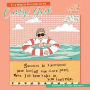 World According to Curly Girl 2018 Wall Calendar
