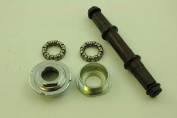 P BOTTOM BRACKET AXLE SET COMPLETE WITH CUPS & QUALITY BEARING SET THREADED SUITABLE FOR MTB MOUNTAIN BIKE