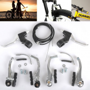 Mountain Cycling BMX MTB Bike Bicycle Alloy V Brake+ Levers+Cables Complete Set