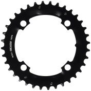 Truvativ Chainring MTB 36T 4 Bolt 104 mm BCD Aluminium Blast Black 2 x 10 (36-24 Specialised) S1, 11.6215.188.320