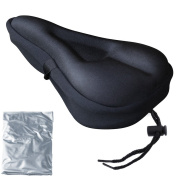 Zacro Gel Bike Seat - Extra Soft Gel Bicycle Seat - Bike Saddle Cushion with Water & Dust Resistant Cover