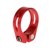 Aluminium 31.8mm/34.9mm Quick Release Mountain Bike Seatpost Clamp for 30.8mm/31.6mm/27.2mm Seatpost - Red, 31.8 mm