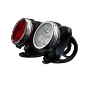 iEpoch Cyclists USB Rechargeable LED Bike Light Set Waterproof - White Headlight and Red Taillight