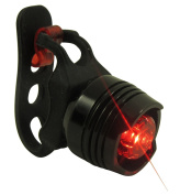 CDC® Bike tail Light - Waterproof Rear Bike LED - Best & Brightest - Small & Rugged - Mount w/out tools - Road, Racing & Mountain - Batteries Included - Fits ALL Bicycles, Trikes, Scooters