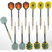 QMQ 12 Pcs 4 Styles Stainless Steel Needle Tip Darts,18 Grammes