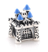 "Best Wing Jewellery .925 Sterling Silver ""Fairy Castle"" Charm Bead"