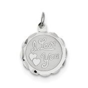 Sterling Silver I Love You Disc Charm