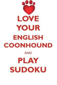 Love Your English Coonhound and Play Sudoku American English Coonhound Sudoku Level 1 of 15