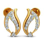 JewelsForum Diamond Studs Earrings in 14Kt Yellow Gold 0.24 Carat TCW