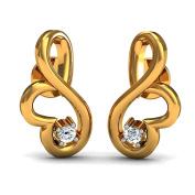 JewelsForum Diamond Studs Earrings in Yellow Gold 14Kt 0.5 Carat TCW