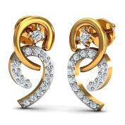 JewelsForum Diamond Studs Earrings in 14Kt Yellow Gold 0.28 Carat TCW
