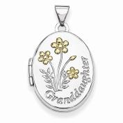 Jewellery Best Seller Sterling Silver w/Gold-plate 21mm Oval Granddaughter Locket