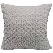Better Homes and Gardens 60cm Rosette Plush Pillow, ivory