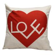Amiley Cushion Cover Pillow Case , 2017 Valentine's Day Love Pillow Case Sofa Waist Throw Cushion Cover Home Decor