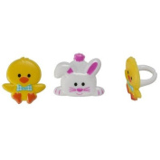 Easter Duck and Bunny Cupcake Rings - 24 pc