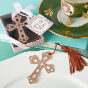 Rose gold metal cross book mark from fashioncraft