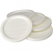 "WECK JAR 5 PACK KEEP FRESH PLASTIC LIDS, 5 PACK (MEDIUM = 3 1/8"", 80mm) Fits models 751, 900, 901, 908, 976, 996"