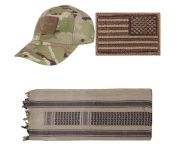 Cap MultiCam + USA PATCH COYOTE RIGHT + Tan/Black Shemagh