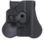 Bulldog Cases Fits S & W J Frame with 5.1cm Barrels Polymer Holster with Paddle & Belt Loop, Right Hand, Black