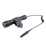 CISNO New 1000LM LED Tactical Flashlight Torch Pressure Switch W/2.5cm Offset Mount For Hunting Hiking