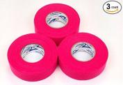 Hot Pink Cloth Ice Hockey Tape - 3 Rolls