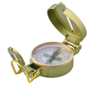 HJUNS Classic Pocket Watch Style Bronzing Antique Compass with Magnifier for Camping Hiking Travelling