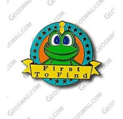 to Find First Signal Ftf-Oak Pin Badge, Geocaching Trackables Tb-Cent-Münzen, With Travelbug