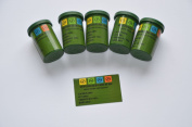 Geocaching Containers Set (Green) with 5 Film Canisters, 5 Waterproof Log Strips, 5 Container Stickers, Rite in the Rain