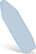 Premium Scorch Resistant Padded Ironing Board Cover - Extra Thick Padding - Heat Reflective - Silicone Coated Pad - 38cm x 140cm - Light Blue - By Utopia Home