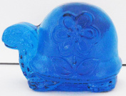 Blue Glass Vintage Turtle Bookend