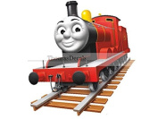 18cm James Red No. Number 5 Thomas the Tank Engine & Friends Removable Wall Decal Sticker Art Home Decor 18cm wide by 19cm tall