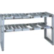 1208S 2-Tier Adjustable Under Sink Shelf Storage Kitchen Cabinet Organiser Free Expansion