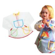 BinaryABC Waterproof Smock Apron Bibs for Children Kids Painting Eating Cooking Long-sleeve Anti-dust Coats Crafts Costume