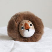 WOOLQUEEN Animal Needle felting kit- lion,Needle felted,DIY lion toy,handmade